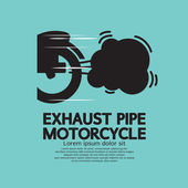 Exhaust Pipe Motorcycle Vector Illustration — Stock Vector