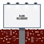 Blank Advertising Billboard In The City Vector Illustration — Stock Vector