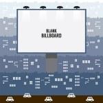 Big Blank Advertising Billboard In Town Vector Illustration — Stock Vector #58391741