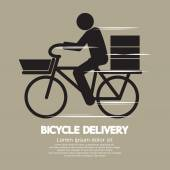 Bicycle Delivery Service Graphic Symbol Vector Illustration — Stock Vector