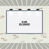 Blank Advertising Billboard On Brick Wall Vector Illustration — Stock Vector