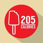 Ice Cream Stick 205 Calories Symbol Vector Illustration — Stock Vector