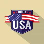 Made in USA Single Badge Vector Illustration — Stock Vector