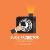 Slide Projector An Opto-Mechanical Device To Show Photographic S — Stock Vector