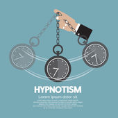 Hypnotism By Using A Clock Vector Illustration — Vetorial Stock