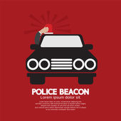 Police Beacon At Car's Roof Vector Illustration — Stock Vector