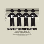 Suspect Identification Graphic Symbol Vector Illustration — Stock Vector