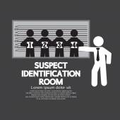 Suspect Identification Room Vector Illustration — Stock Vector