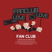 Fan Club Showing Message Board Vector Illustration — Vetor de Stock