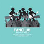 Fan Club The Big Fan Of The Band Vector Illustration — Stock Vector