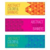 Zestaw trzech ilustracji wektorowych streszczenie banery — Wektor stockowy