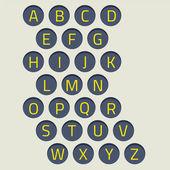 Modern Style Alphabets Set Vector Illustration — Stock Vector
