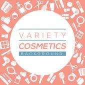 Variety Cosmetics Background Vector Illustration — Stock Vector
