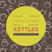 Kettles Background Vector Illustration — Stock Vector