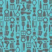 Variety Cosmetics Pattern Background Vector Illustration — Stock Vector