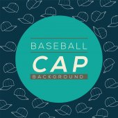Baseball Caps Background Vector Illustration — Stock Vector