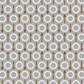 Utensil Pattern Background Vector Illustration — Stock Vector