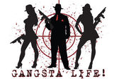 Gangsta life — Stock Vector