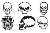 Skull page — Stock Vector