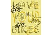Love bikes — Stock Vector