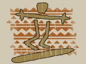 Native surfer — Vecteur