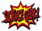 Science geek — Stock Vector