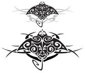 Tribal stingray — Stock Vector