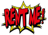 Rent me text — Vettoriale Stock