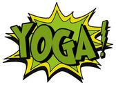 Explosion bubble yoga — Vector de stock