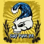 Surf punk ipa — Stock Vector