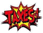 Explosion bubble taxes — Stock Vector