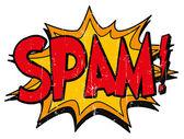 Explosion bubble spam — Stock Vector