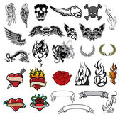 Tattoo collection — Stock Vector