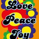 Love, peace, joy — Stock Vector #59361819