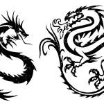 Fighting dragons — Stock Vector #59361937