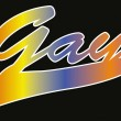 Word gay on black background — Vector de stock  #59362305