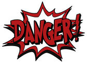 Explosion bubble danger — Stock Vector