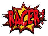 Explosion bubble racer — Stock Vector
