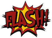 Explosion bubble flash — Stock Vector