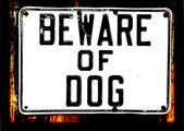 Diffidate di cane — Vettoriale Stock