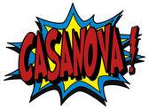 Explosion bubble casanova — Stock Vector