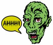 Zombie head — Stock Vector