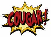 Explosion bubble cougar — Stock Vector
