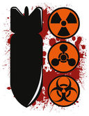Chemical bomb — Stock Vector