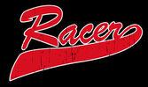 Racer lettering illustration — Stock Vector