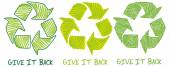 Give it back recycling symbols — Stock Vector