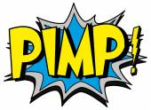 Explosion bubble pimp — Stock Vector
