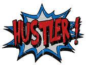Explosion bubble hustler — Stock Vector