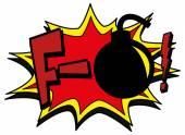 Explosion bubble f-bomb — Stock Vector