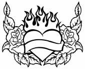 Rauchen-herz — Stockvektor